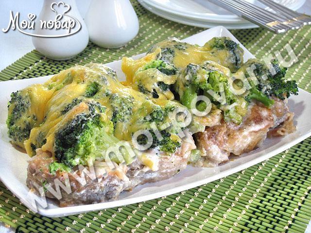 запеченная рыба с соусом