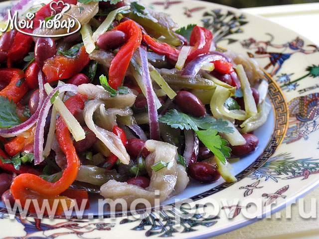 салат из фасоли с овощами пошаговый рецепт
