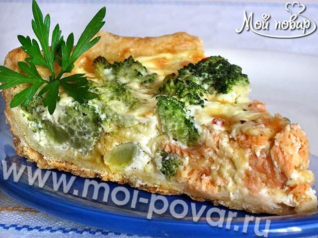 рецепт пирог с курицей и брокколи рецепт с фото пошагово