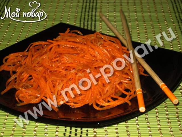 Острая морковь – кулинарный рецепт