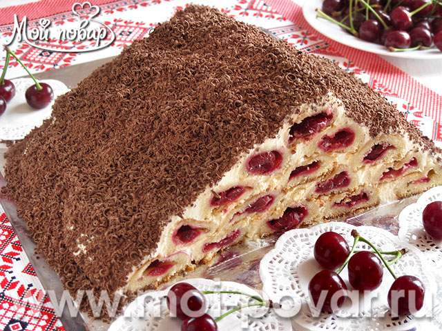 Торт с вишней горка рецепт #9