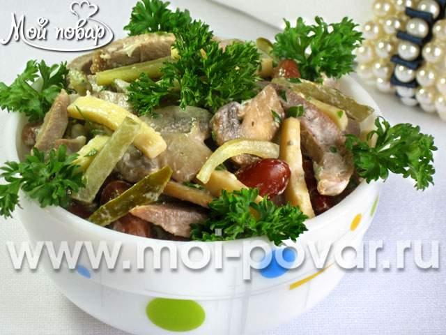 Салат с языком – кулинарный рецепт