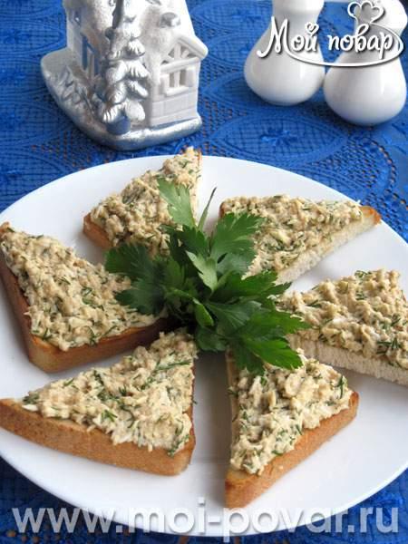 бутерброды из трески печени рецепты