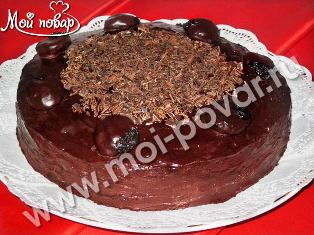 Торт с черносливом источник