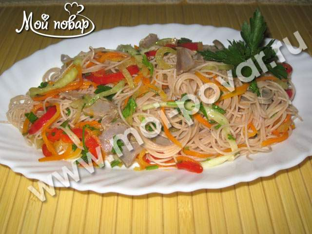 вкусные салаты из фунчозы рецепты