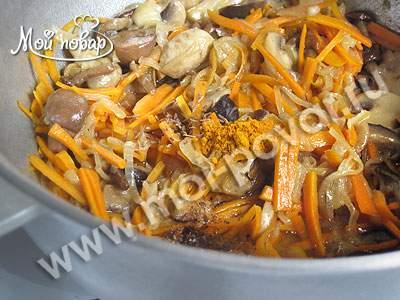 Плов с грибами - кулинарный рецепт