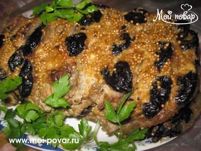 свинина с черносливом в духовке рецепты с фото