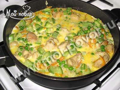 курица с макаронами и сыром в духовке рецепт