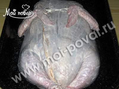 """Курица фаршированная """"Галантин"""" – кулинарный рецепт"""
