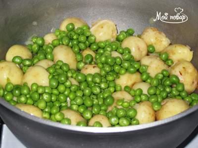 Картошка с зеленым горошком рецепт