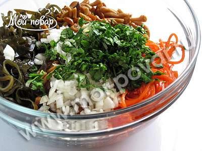 Морковки и с капусты Салат морской the